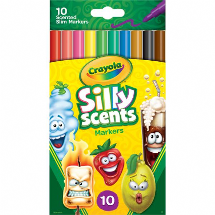 Crayola Silly Scents Fine Line Scented Markers 10 Pack